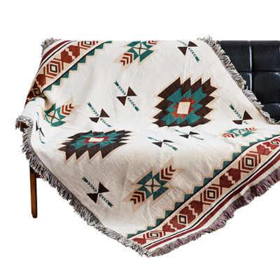 スローブランケットヨーロッパジオメトリソファ装飾的な本のカバーcobertor上ソファ/ベッド/飛行機旅行チェック柄非スリップステッチテーブルクロス