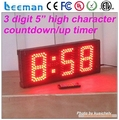 Leeman 6 digits LED Sports Wall Countdown Timer with 3 Meters Cable Control