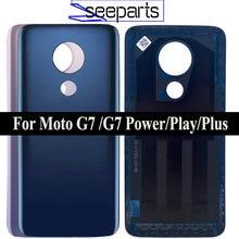 Dla Motorola Moto G7 obudowa tylnej pokrywy baterii dla Moto G7 obudowa tylnej obudowy G7 Plus pokrywa baterii G7 pokrywa zasilania