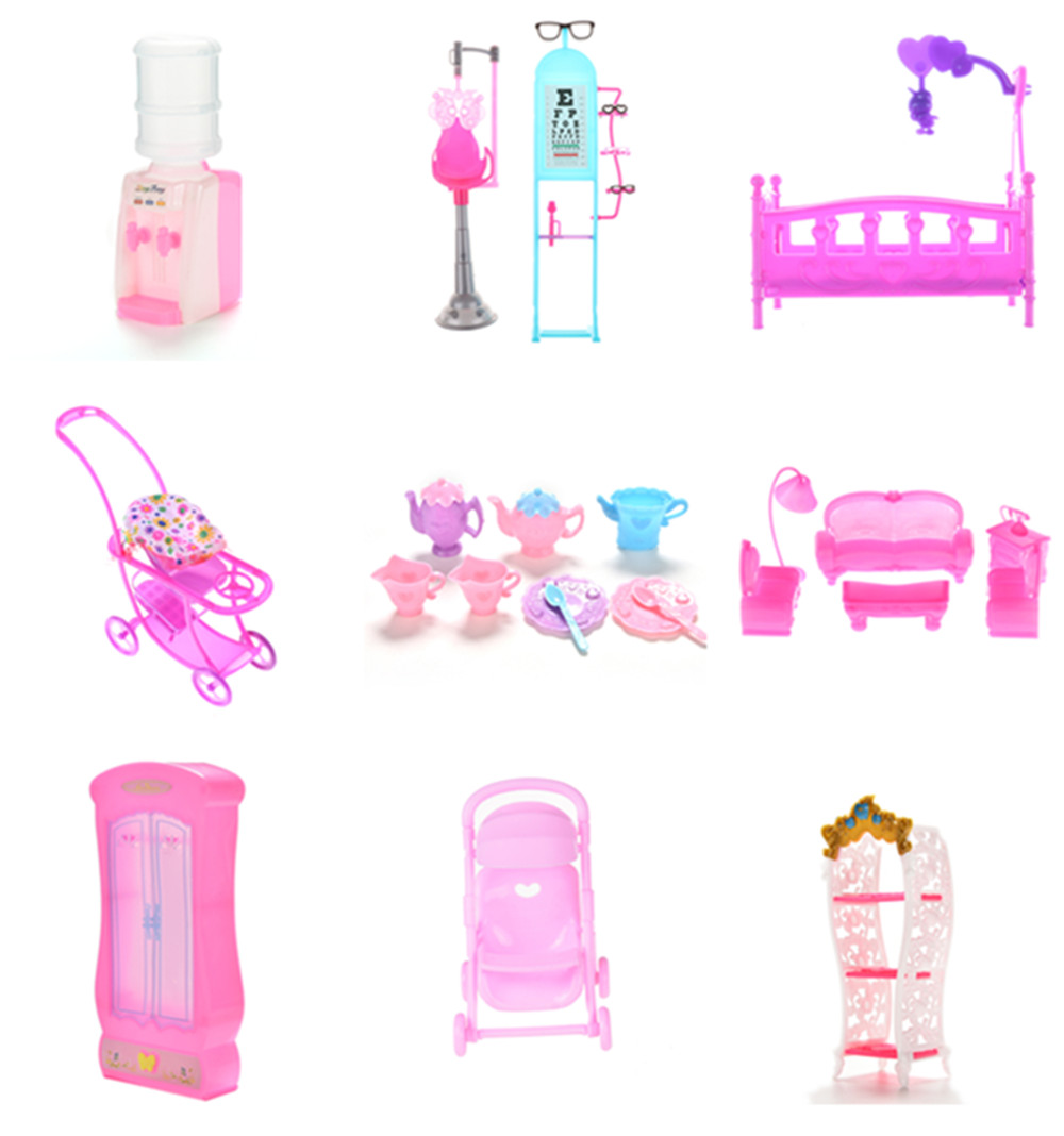 1Set Simulation Closet Piano Table Bed Bathtub Shoes Cabinet Baby Room For Kids Play Toy Miniature Furniture Miniature Sets