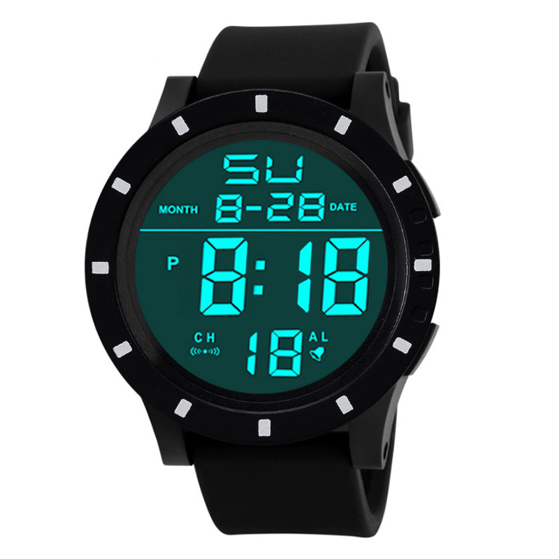 цена на Men's Fashion LED Digital Touch Screen Day Date Silicone Wrist Watch