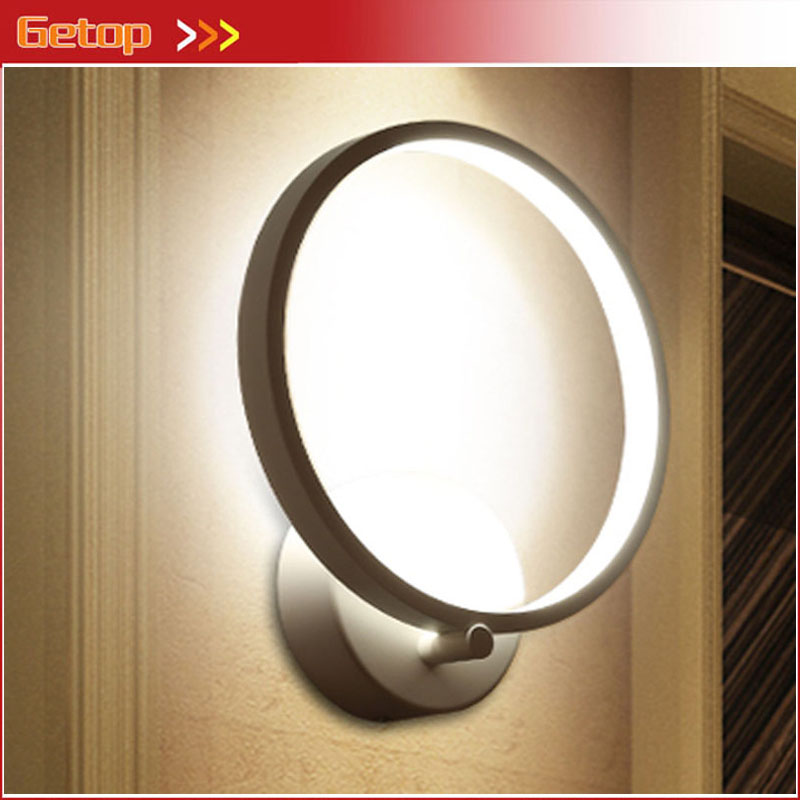New Acryl LED Chip Wall Lamp Modern Simple Circular Ring Shape Light Fixture for Sitting Room Bedroom Corridor Balcony Lamp luxury round toe breathable man formal dress shoes genuine leather derby carved oxfords famous men s bridal wedding flats gd78