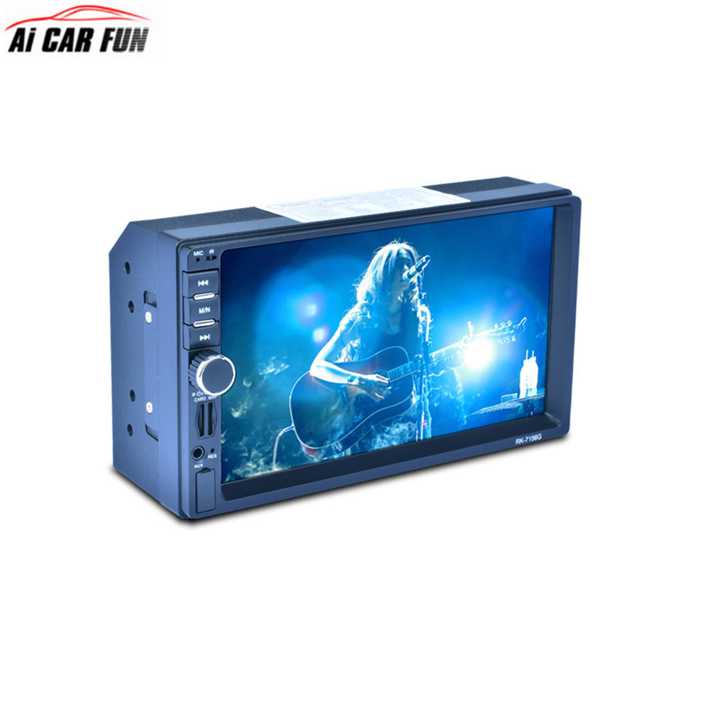 2 Ding Bluetooth Gps 7 Inch HD CAR MP5 Multimedia Player Back Lit Colorful AM FM RDS Touch Screen Car Radio Media Player rk 7157b 7inch 2din car mp5 rear view camera fm am rds radio tuner bluetooth media player steering wheel control