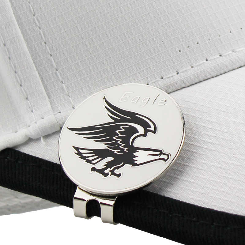 Eagle Golf Cap Clip Golf Ball Marker Alloy Professional 1.18""