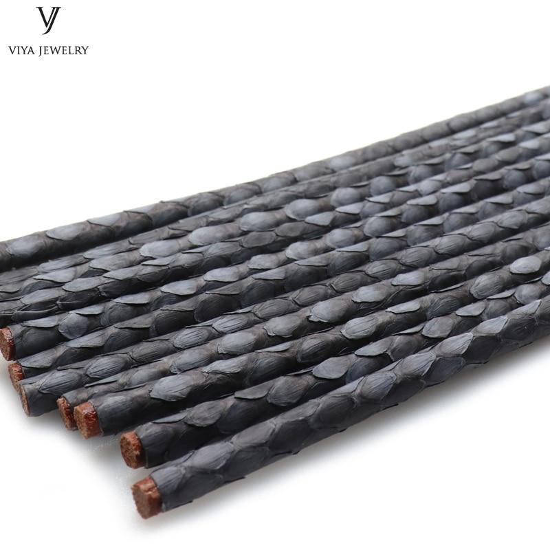 Hohe Qualität Grau Python Lederband Durchmesser Breite von 4mm 5mm ...
