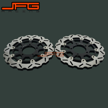 1 Pair Motorcycle Front Floating Brake Disc Rotor For KAWASAKI ZX6RR ZX600 ZX 600 ZX6R ER6F ZX-6R ZX-6F ER6N VERSYS 650 Z 750