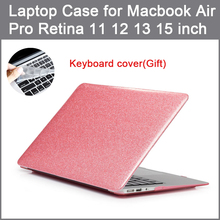 Stylish flash powder for Apple computer protection shell 2016 new air pro Retina 11 12 13 15 inch Touch Bar shell+Keyboard cover