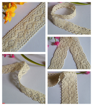 wholesale mixed 20 yards Ivory white DIY delicate beautiful cotton lace Beige textile clothing decorative accessories A2