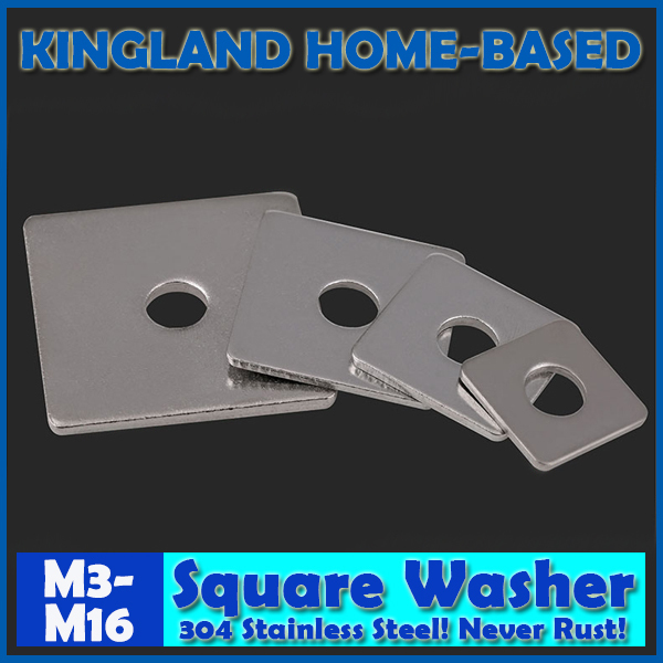 Square <font><b>Washers</b></font> For Use In Timber Constructions 304 Stainless Steel M3 M4 M5 M6 <font><b>M8</b></font> M10 M12 M14 M16 image