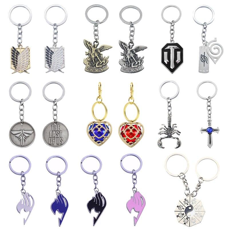Popular Fashion Anime Role-Playing Jewelry WOT Tank World Keychain Gothic Michael Fairy Tail Taiji Keychain Men And Women Gifts