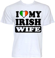 MENS FUNNY COOL NOVELTY IRISH WIFE IRELAND FLAG SLOGAN JOKE RUDE T SHIRTS GIFTS 100 Cotton