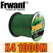 Frwanf PE Braided Fishing Line 1000m 4 Strand 100lb Lake Multifilament Wire 4 Strands Woven Thread for Carp Fishing