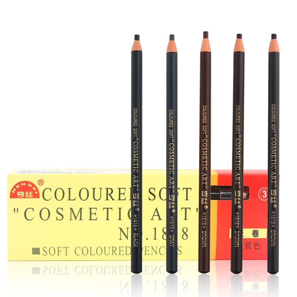 12Pcs/Lot New Waterproof Eyebrow Pencil Long Lasting Not Blooming Eye Brow Liner Pull Line Pen Makeup Tool 5 Colors Optional Set
