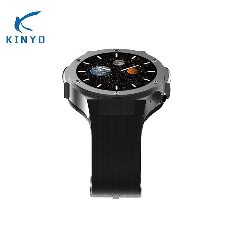 Бизнес мужчин smart watch android мужской сердечный ритм smartwatch поддержка нано сим карты Носимых устройств Интеллектуальный будильник pk dz09 q7