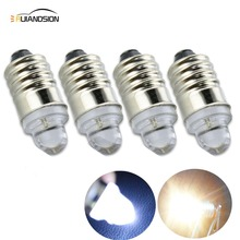 цены  4pcs/lot High quality DC3V Signal E10 LED Indicator 3v lights bulbs lamps E10 20lm Warm White Pure White