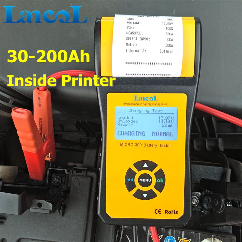Remarkable Professional outillage automobile Electronic Battery Tester Hot Sale Cca Micro-300 car tools hot sale digital car battery tester diagnostic tools micro 100 12v car capacity load tester analyzing