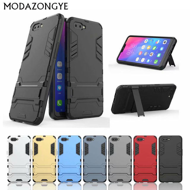 timeless design ecd2a a77c9 US $3.19 20% OFF|For Oppo AX5 Case Oppo AX5 Case 6.2 Luxury Armor Hybrid  Silicone + Hard Phone Case For Oppo AX5 A X5 A5 A3s Back Cover-in Fitted ...