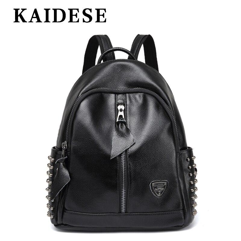 KAIDESE brand leisure female bag 2018 Time Travel Backpack college shoulder bag