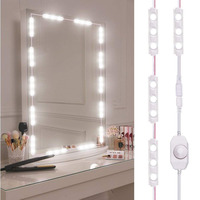 Makeup Mirror Vanity Lights Kit Mirror Led Lamp Adjustable Brightness 60 LEDs 9.8FT 1200LM Make Up light For Dressing /Kitchen
