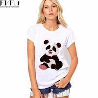 2017 Fashion Panda Print Women Tshirt Cotton Casual Funny T Shirt For Lady Top Tee Hipster