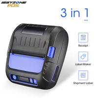 ISSYZONEPOS 3 Inch Bluetooth MiniLabel Printer Thermal Sticker For Android iOS Price Tag Note Label Printer Supermarket/Library