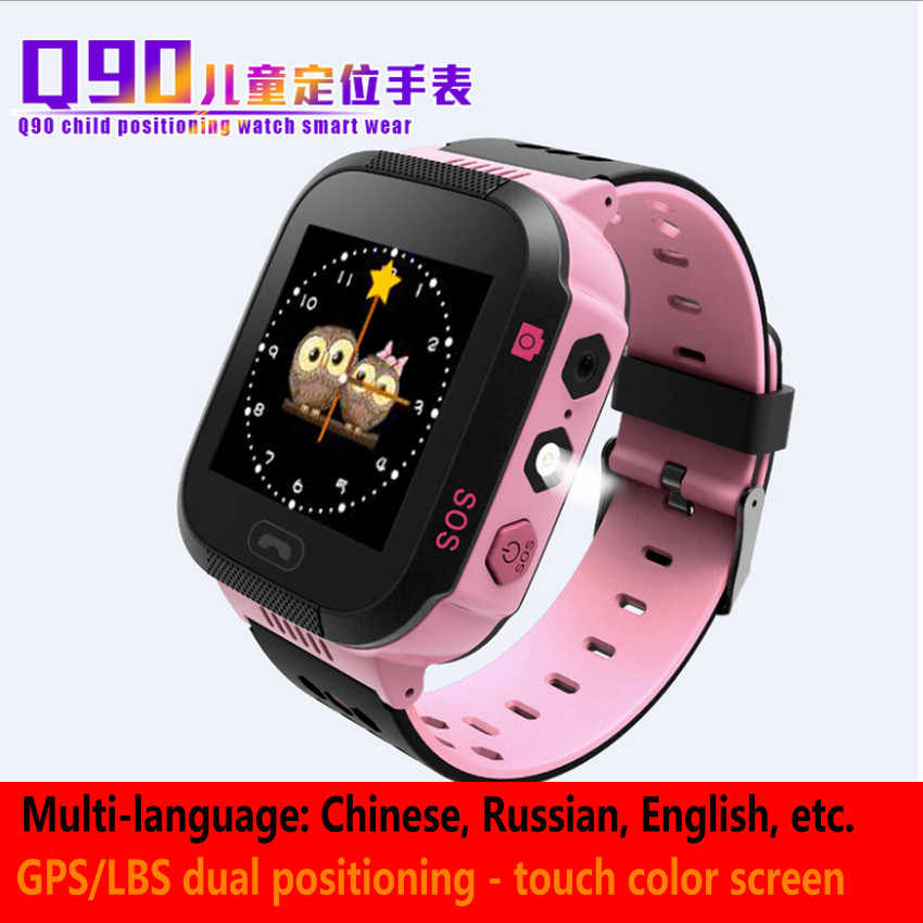 Q90 child positioning    watch Smart watchGPS dual positioning watch    Multi-language children's watch