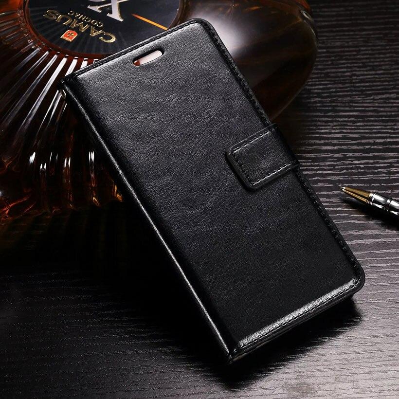 Teléfono celular de cuero flip case cubierta del teléfono para zte axon 7 casos