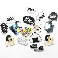 1 PCS Letters Badges for Clothing Acrylic Badges Icons on The Pin Kawaii Badge Backapck Decoration Icon
