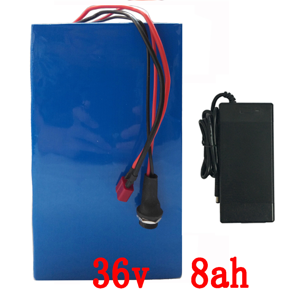 e-Bike Battery 36v 8Ah 500W electric bicycle battery 36v with 42v 2A charger,15A BMS 36v Lithium Battery Pack Free Shipping free customs taxes customized 72v 40ah lithium battery pack for e bike electric scooters ev e bikes with charger and 50a bms