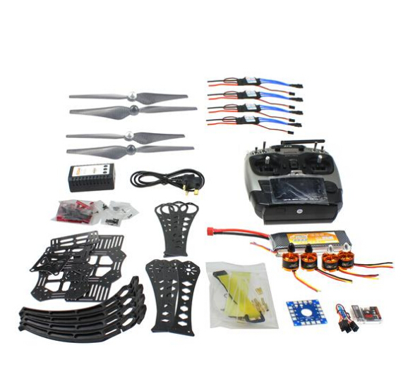 DIY RC Drone Quadrocopter RTF X4M360L Frame Kit QQ Super Radiolink AT9 F14892-H f14892 f diy rc drone quadcopter rtf x4m360l frame kit with qq super flight control motor esc flysky fs i6 transmitter battery