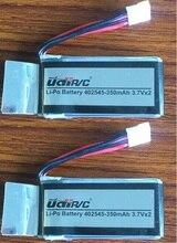 2 piece font b battery b font 3 7V 350mAh LIPO font b battery b font
