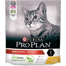 Сухой корм Purina Pro Plan для взрослых кошек от 1 года, с курицей, Пакет, 400 г