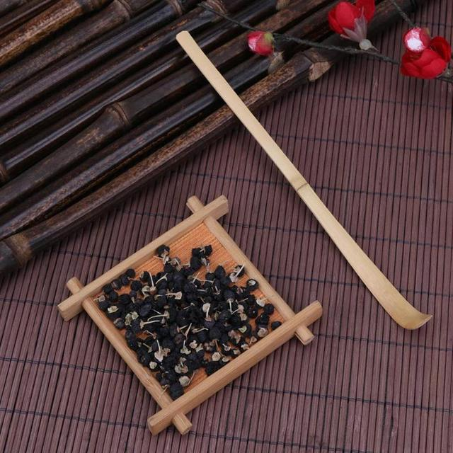 Environmental 18cm Handmade Bamboo Matcha Tea Scoop Retro Japanese Green Tea Ceremony Matcha Scoop Tea Sticks Tool