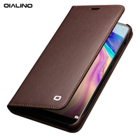 QIALINO Business Style Card Slot Phone Cover For Huawei Ascend P20 Luxury Genuine Leather Wallet Flip