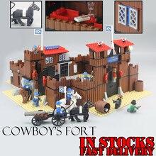 Lepin 33001 742Pcs The Idian Cowboy s Castle Cavalry Soldier Horses Set Building Blocks Bricks Christmas