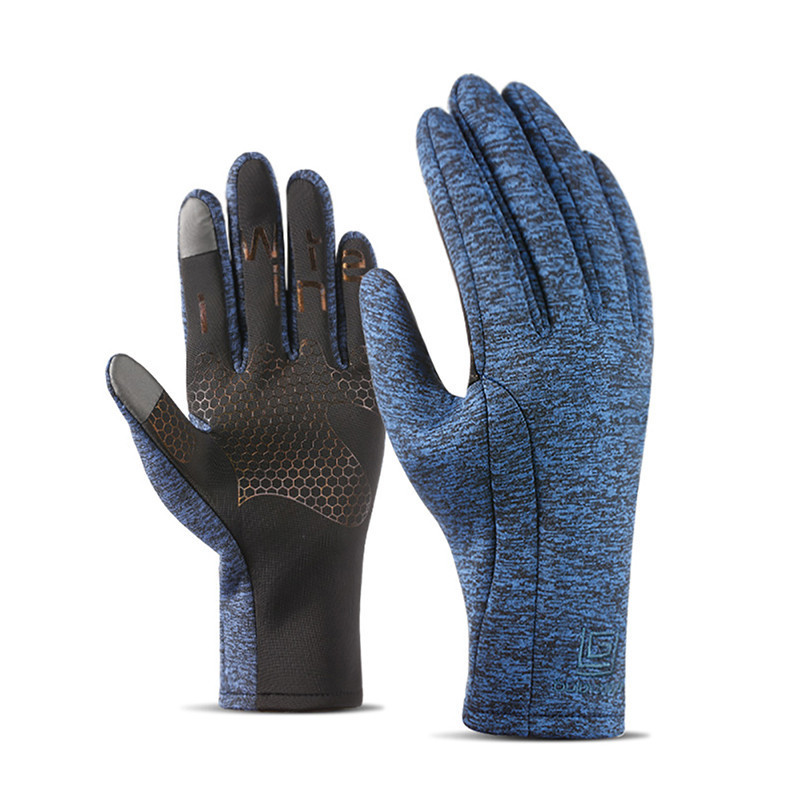 Cycling Bicycle Gloves Winter Outdoor Riding Touch-Screen Warm Thermal Skiing Gloves Cashmere Lined Gloves