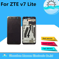 LCD Screen Display Touch Digitizer With Frame For 5 0 ZTE Blade V7 Lite Gold Black