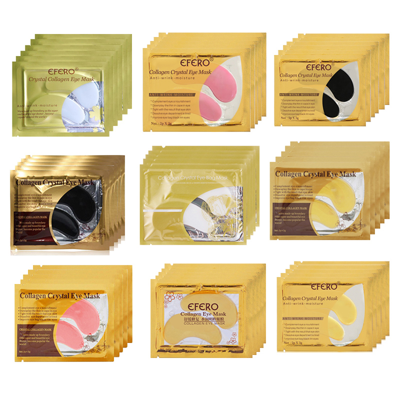 Gold Crystal Collagen Eye Mask Skin Care Eye Patches Under Eye Mask Anti Wrinkle Dark Circle Remover Colageno Gel Mask Eyes Pads