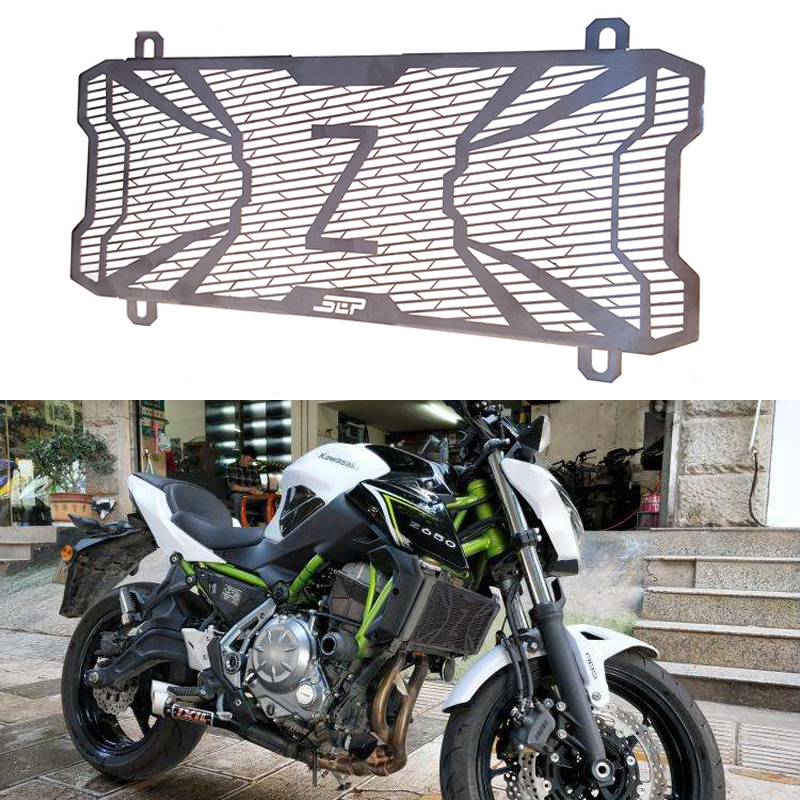 For Kawasaki Z650 Z 650 Ninja 650 Motorbike Protection Water Tank Guard Radiator Grille Guard High Quality Stainless Steel