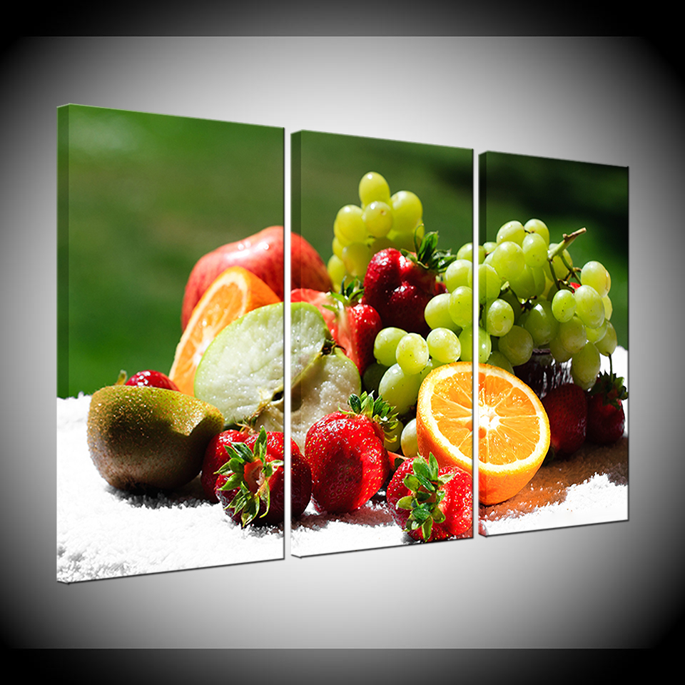 Modern Canvas Poster Fruit Painting Wall Pictures For Living
