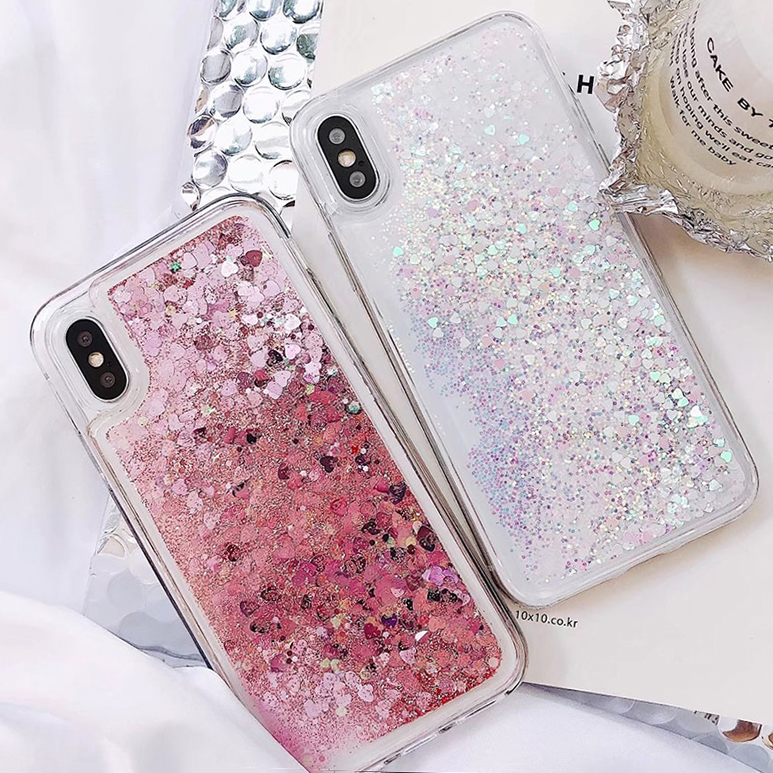 Soft Glitter Dynamic Liquid Quicksand Case for iPhone X Cases 5S SE 6S Plus for iPhone 7 Cover 8 Plus Silicon Case For iPhone 8 (2)