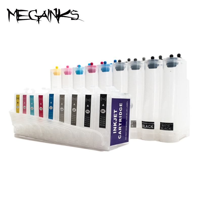 Free shipping 9 colors T7601-T7609 empty CISS ink system for EPSON Surecolor P600 free shipping 9 litre a set ciss refill submation ink for epson a3 inkjet r3000 printer ink