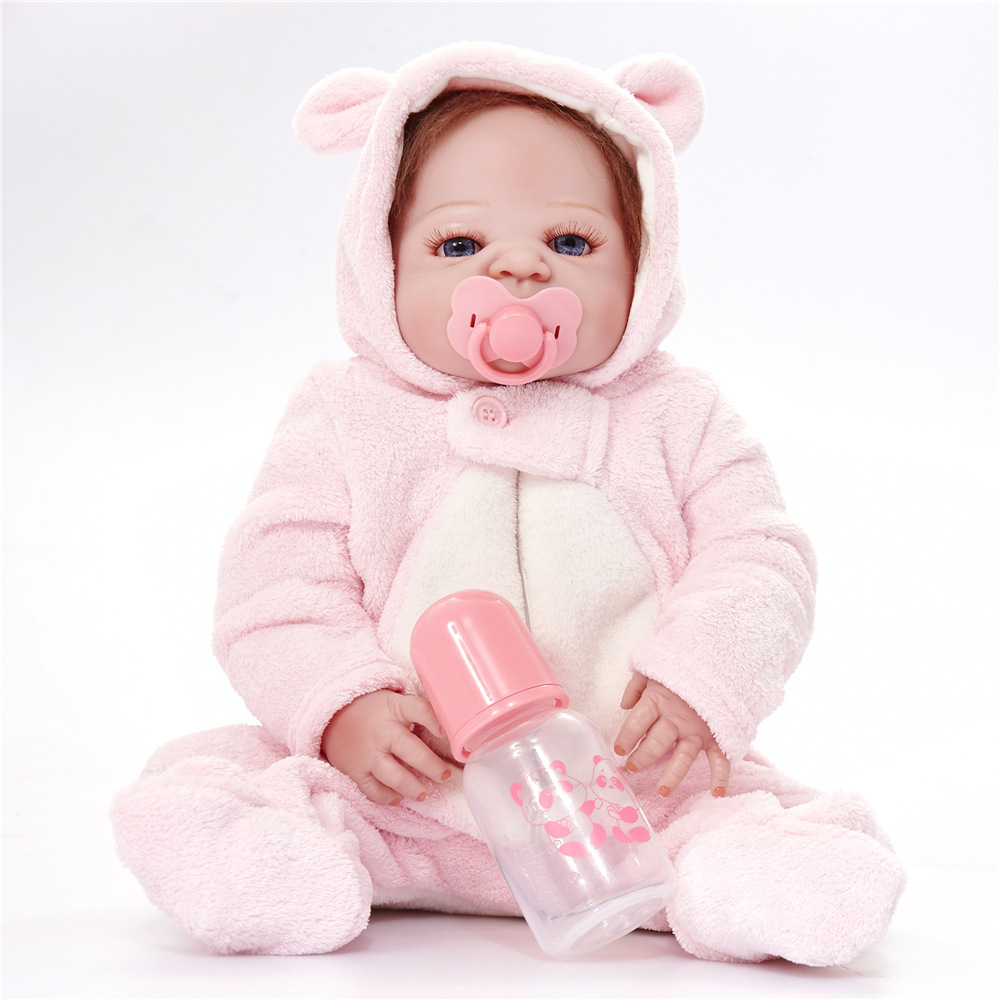 55cm Full Silicone Vinyl Newborn Princess Girl Doll Lifelike Reborn Baby Doll for Children Toy Birthday Christmas Xmas Gift Bebe for volkswagen vw polo 9n 2002 2009 armrest box central store content storage box center console leather cup holder dual layer