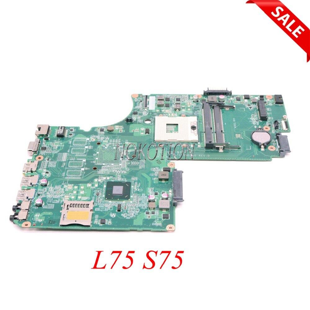NOKOTION A000243940 DA0BD5MB8D0 Scheda Madre Del Computer Portatile Per Toshiba Satellite L75 S75 HM77 UMA DDR3 scheda Principale in pieno provatoNOKOTION A000243940 DA0BD5MB8D0 Scheda Madre Del Computer Portatile Per Toshiba Satellite L75 S75 HM77 UMA DDR3 scheda Principale in pieno provato