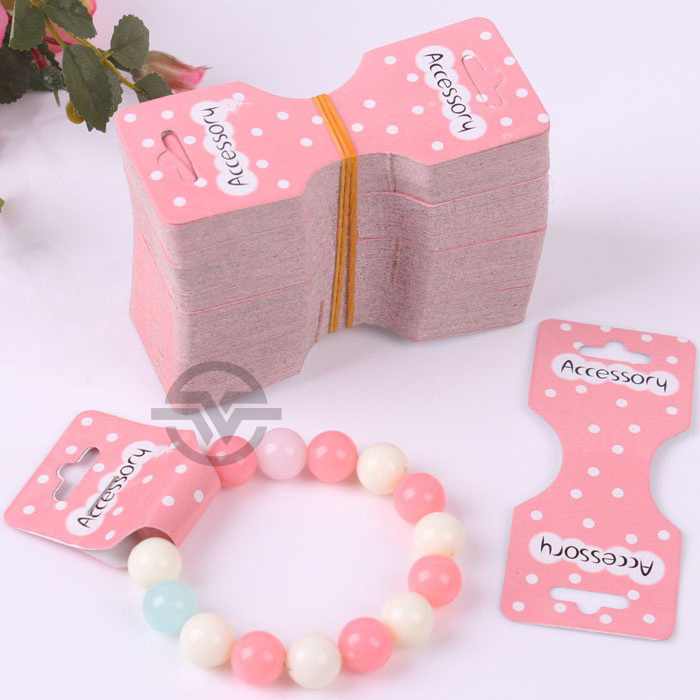 50pcs Lot Flower Paper Bracelet Card Jewelry Holder For Anklet Bangle Headwear Necklace Packaging In Display From