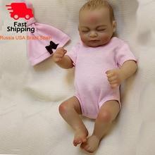 "OtardDolls bebe reborn doll 10"" Full slicone adorable reborn baby dolls Handmade Painting Hair Gift Bonecas  Bath toy"