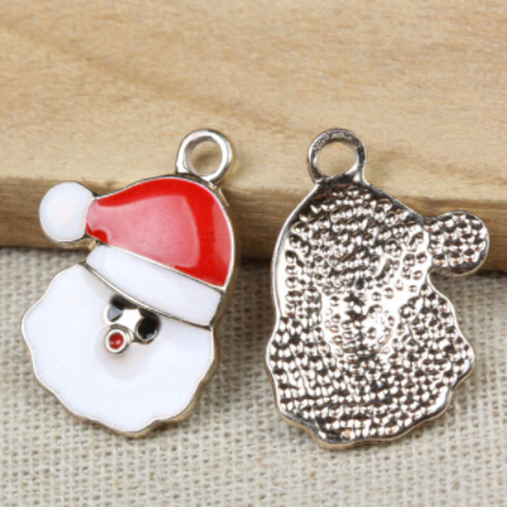 2017 new Colorful Santa Claus pendants Wholesale Enamel Alloy Christmas gifts Santa Claus pendants