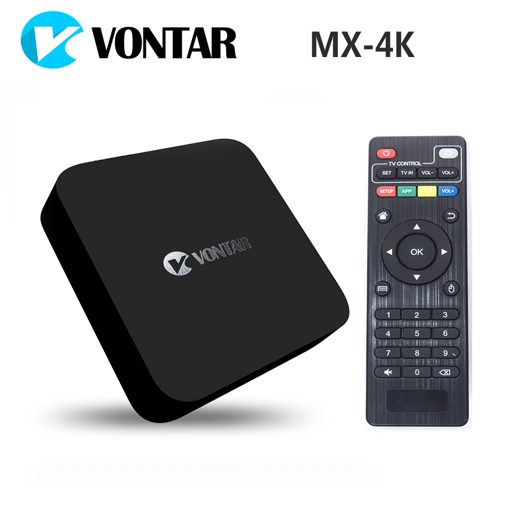 ФОТО [Genuine] VONTAR MX-4K Rockchip RK3229 Quad Core Android TV BOX 1GB/8GB Support 2.4G WiFi 4K ULTRA HD H.265 60tps Smart TV BOX