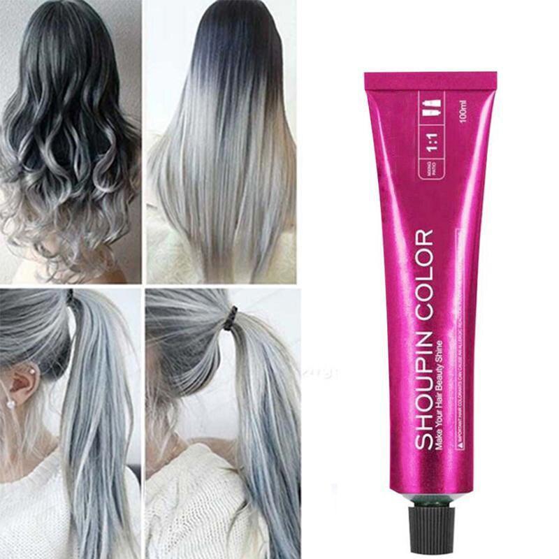 Crema colorante per capelli non permanente