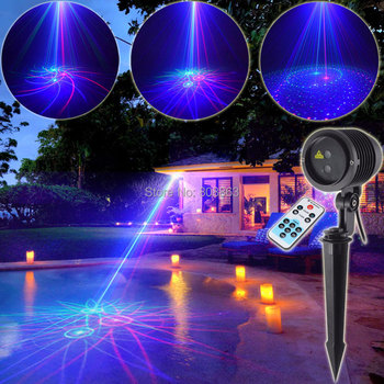 ESHINY RGB Laser 8 Big Patterns Projector Holiday House Party Xmas Wall Tree Garden Landscape Light Waterproof Outdoor T73D3